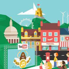 Google UK Business Header Cookie #london #illustration #minimal #geometric