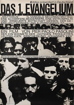 1965 German poster for THE GOSPEL ACCORDING TO ST. MATTHEW (Pier Paolo Pasolini, Italy, 1964) Designer: Hans Hillmann Poster source: KinoArt.net