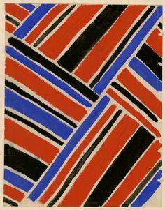 Suzanne M. Cowan #1927 #projet #de #tissu #simultan #sonia delaunay