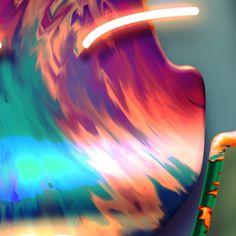 L/4 on Behance #pattern #lights #material #illustration #art #kolotusha #neon