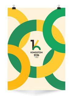 Kingston 2016 Olympics on Behance #olympics #sports #colours #kingston #poster