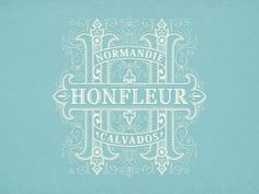 Honfleur #logo #illustration #branding #typography