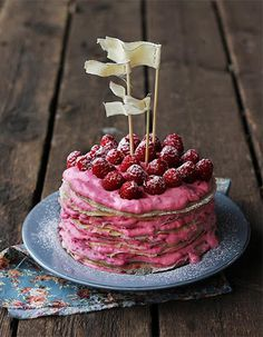 Homemade Raspberry Swedish Pancakes Recipe #cake #pancakes