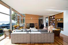 Wood house with single level #interiordesign