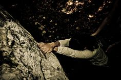 a boulder step picture by Gilles Morelle #contrast #climbing #effort #port