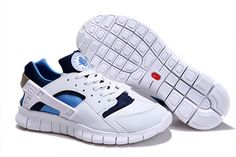 Nike Huarache Free 2012 White Royal Navy-Mens