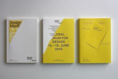 » Exhibition catalogues for Design Miami Basel 2009, 2010, 2011 by Madethought Flickrgraphics