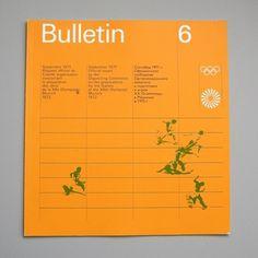 Otl Aicher 1972 Munich Olympics - Bulletin