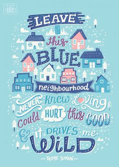 Blue Neighbourhood Lyric Posters