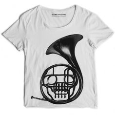 shoot_frenchhorn_shirt_white_lrg.jpg (JPEG Image, 800x800 pixels) #t #design #graphic #shirt #illustration