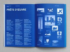 Design Graphique • Julie Rousset #type #blue #columns #typography