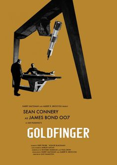James Bond Movie Posters Redesigned By Owain Wilson #james #goldfinger #bond