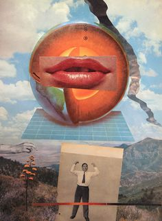nuncalosabre. Collages | ©Charles Wilkin #clouds #bizarre #lips #design #illustration #crazy #art #surreal #collage #weird