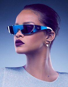 Rihanna has created a range of futuristic sunglasses in collaboration with Dior as part of her brand ambassadorship.