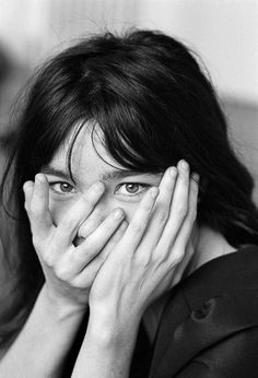 Bjork #white #and #hands #eyes #black #portrait #bjork