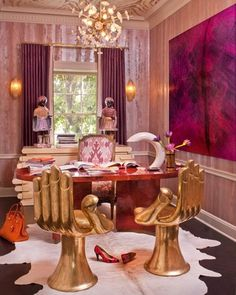 Photos of Pink Rooms and Rooms with Pink Walls-Page 6 #interior #design #kelly #wearstler