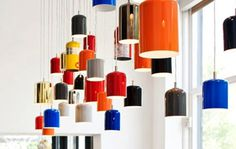 Design by Castor - Recycled Fire Extinguishers.... #lights #lamps #recycled design #parts and labour #toronto #castor