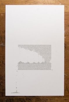 Erosion and Typography 3 11 X 17 inch by jasonpermenter on Etsy #print #poster #typography