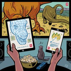 Entertainment Weekly – New TV Habits by Kyle Webster #illustration