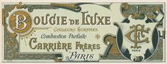 All sizes | Antique French Perfume Label | Flickr - Photo Sharing! #typography #vintage #type #ornament #monogram