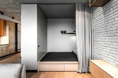 Space-Saving Design for Studio Apartment - InteriorZine