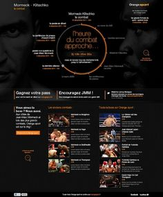 Orange Sport Mormeck - 13decembre - Séverin Boonne #boxe #webdesign