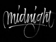Brush script of my favorite english word.  White Posca brush on black canson.  More letterings:  www.instagram.com/medinaoscar  www.Medinaos
