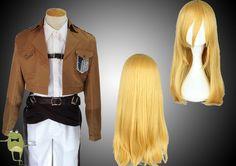 Shingeki no Kyojin Krista Lenz Cosplay Costume + Wig