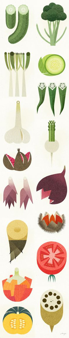 Ryo Takemasa #illustration #food #vegetable