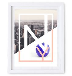 NY – The Big Apple Poster/ Wall Art Poster. #abstract #apple #ny #modern #illustration #photography #art #york #new