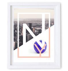 NY – The Big Apple Poster/ Wall Art Poster. #abstract #apple #illustration #modern #art #new #york #ny #photography