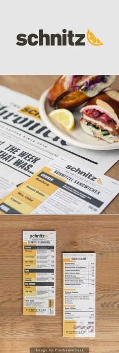 Schnitz menu design #print #design #inspiration #graphic design #menu