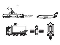 Transit #vector #line #transit #icons #art