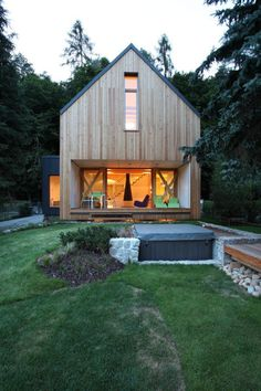 A contemporary wooden cottage by Prodesi #architecture #inspiration #modern