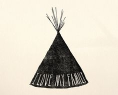 il_fullxfull.78630066.jpg (1000×810) #lettering #illustration #teepee #tipi #hand #native