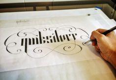 Quiksilver lettering by Christopher Vinca