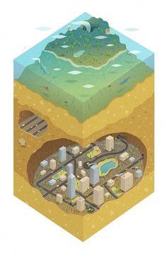 Volcanic Secret on the Behance Network #illustration