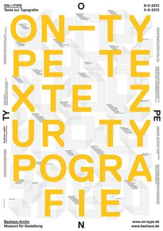 8a-ON-TYPEa #bauhaus #berlin #poster #typography