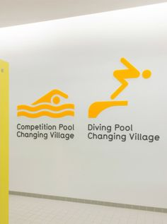London Aquatics Centre wayfinding & signage | Cartlidge Levene