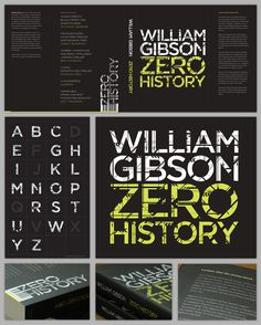 Zero History #development #wilson #design #graphic #book #cover #david