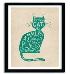 THE CAT by STEVE SIMPSON #print #art
