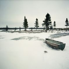 Isabelle Alexandra Ricq #canada #ricq #isabelle #snow #landscape #boat #trees
