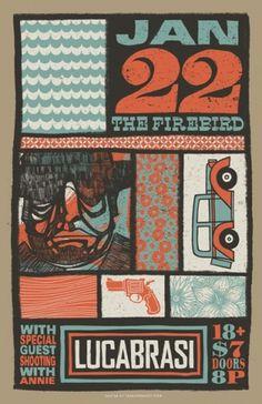 http://scottspooner.tumblr.com/ #print #screen #printing #poster #music #band