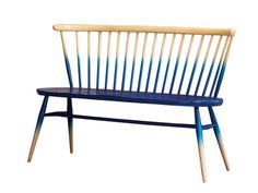 Ercol Love Seat #seat #design #wood #furniture #ercol #blue #dipped