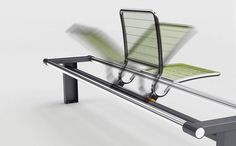 bench #green #steel #metal #bench #spin