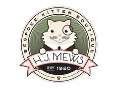 HJ Mews | Jessica Hische #logo #jessica #cat #hische