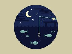 Fishing by Tim Boelaars #illustration #tim boelaars