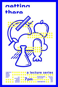 Science Lecture Poster and Icon Design