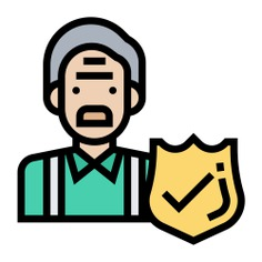 See more icon inspiration related to elder, life, healthcare and medical, elderly, old man, insurance, check mark, coverage, protection, security, business, shield and people on Flaticon.