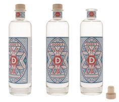 Dodds gin letterpress labels #label